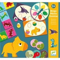 'Dinosaur Game Set - Dominoes, Bingo & Memory Game
