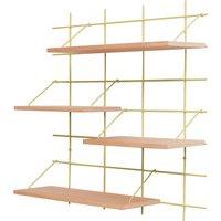 Tagassy Shelf, Brass Base