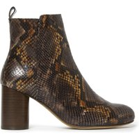 Giorgia Leather Snakeskin Ankle Boots
