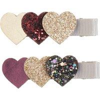Set of 2 Heart Hair Slides