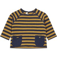 Striped Knit Sweater with Pockets