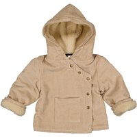 Velour Fur-lined Coat