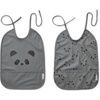 Lai Panda Organic Cotton Bib - Set of 2