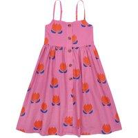 Long Buttoned Organic Cotton Tulip Dress