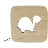Solid Oak Turtle Night Light