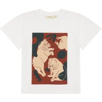 Asger Dog Pattern Organic Cotton T-Shirt