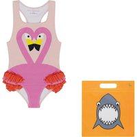 Anti-UV Recylced Nylon One Piece Flamingo Swimsuit
