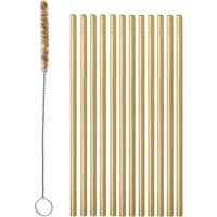 Metal Straws with Brush - Set of 12