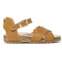 Crossed Openwork Sandals