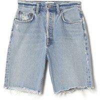 90's Pinch Waist Organic Cotton Denim Shorts