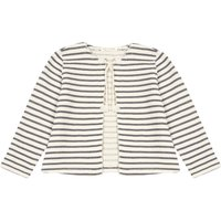 Striped Fleece Cardigan