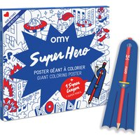 Giant Colouring-in Poster - Superhero