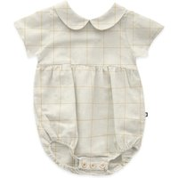 Checked Linen Romper
