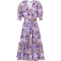 Dasha Popelin Print Dress