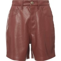 Leana Leather Vegan Shorts