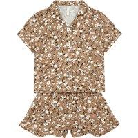 Cotton Crepe Floral Top & Bottom Pyjama Set