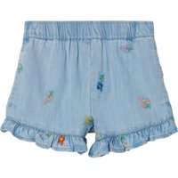 Tencel Embroidered Flower Shorts