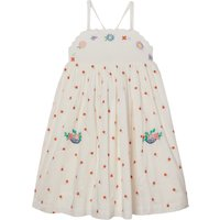 Organic Cotton Embroidered Flower Dress