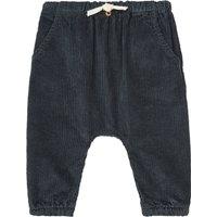 Organic Cotton Ribbed Velvet Harem Trousers