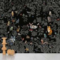 Wild wall paper - black