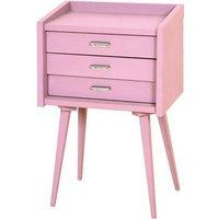 Secrets Bedside Table - Vintage Pink