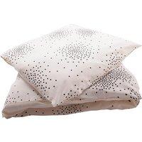 Ecru Bed Set - Black Dots