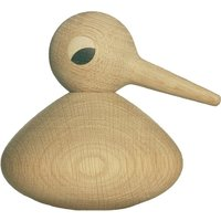Round bird in natural oak by Kristian Vedel