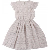 Birds dress with frilled sleeves