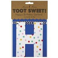 Toot Sweet Paper garland - 'Happy birthday'
