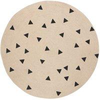 Black Triangles Round Rug D100 cm