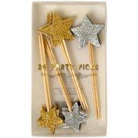 Glitter Stars Toothpicks - Set of 24