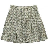 Agness Birds Pleated Skirt