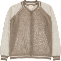 Open Lurex Two-Toned Cardigan