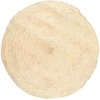 Woven Palm Leaf Rug D 100 cm