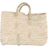 Flat Woven Palm Leaf Basket
