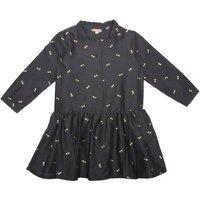 Silk Cotton Jacquard Dress with Lurex Bows