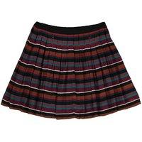 Stripe Pleated Skirt