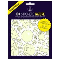Nature Phosphorescent Wall Stickers - Set of 100