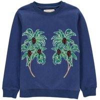 Biz Embroidered Palm Tree Sweatshirt