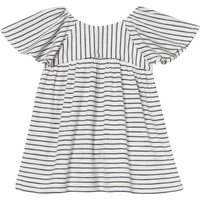 Island Frilly Sleeve Striped Dress