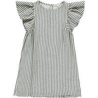 Stripe Butterfly Sleeve Dress