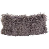 Grey Tibetan Goatskin Cushion
