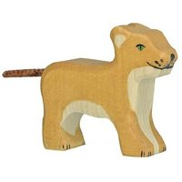 Small Wooden Lion Figurine