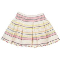 Accent Embroidered Stripe Skirt