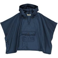 Poncho With Hood Navy Blue