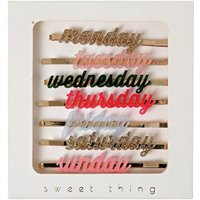 Days Of The Week Hair Clips - Set Of 7
