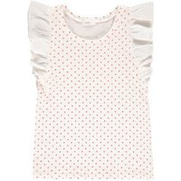 Venecia Star Ruffled Linen and Cotton Blouse