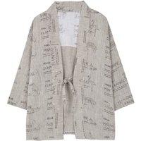 Colour Linen Kimono Jacket