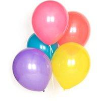 Set of 10 latex balloons - multicolour