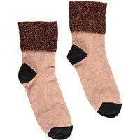 Lurex Stitched Linen Socks